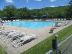 VIP community outdoor pool next to VIP basketball, tennis courts and ball field