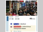 According to Transport for London, Get to oxford street in just over 45 Minutes