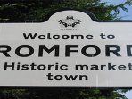 Get to Romford town center within ten minutes
