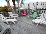 Relax on the sundeck with views of the ocean