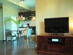 L'Oasis de Terre Rouge - Appartement Acacias - Cuisine vue séjour
