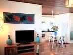 L'Oasis de Terre Rouge - Appartement Frangipanier - Coin TV
