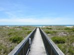 Wrightsville Dunes community walkway to the beach