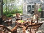 Lower level patio with outdoor shower-easy access from game room - 138 Soundview Avenue Chatham Cape Cod New England...