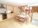 Woolacombe Holiday Cottages Surf View Kitchen To Stairs