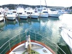 Princes Marina in beautiful protected Crystal Bay. Excellent Parking and full range of shops near by