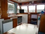 Spacious Saloon with en-suit shower & toilets  in Cabins forward and aft