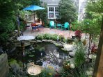 Fall Promo:Rent 2 Nites and Get the 3rd Nit FREE! Pond, waterfall and stone patio