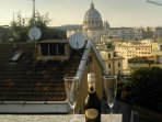 a drink on the upper terrace of VATICANO HOUSE