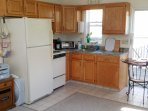 Kitchenette is small but fully equipped.