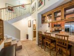 This Hidden Creek galley style kitchen has been updated with stainless steel appliances and features breakfast bar...