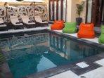 front view of villa. 6x3.5 metre swimming pool