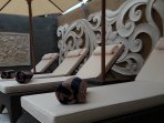 luxury cushioned loungers