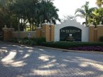 Entrance to the Yacht Club- Gated Security Condominium