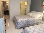 2nd Bedroom with two Double Beds- Walk In closet
