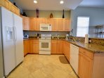 Full kitchen in this home away from home