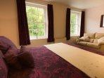 Large king-sized master bedroom