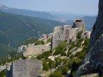 The Cathar castle of Peyrepertuse