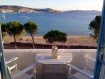Upper floor beach studio for 2 guests ~ Panoramic sea views!