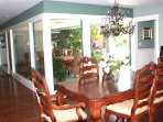 Indoor dining area. Extra leaf for 10 guests