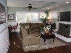 Family room with reclining sofa