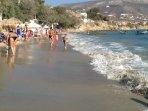 Beautiful Krios beach, Paros, just outside your studio door!
