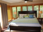 Sunroom with a king bed this is awesome