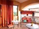 veranda coperta camera matrimoniale deluxe Anturium