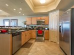 Kitchen features stainless appliances & granite countertops