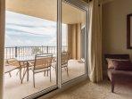 Master bedroom has direct access to balcony