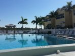 Heated pool overlooking Intercoastal