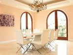 DINING ROOM WITH VIEWS AND TERRACES