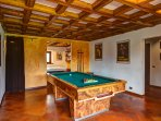 Billiards table upstairs