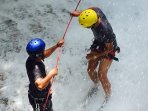 Waterfall abseiling with us