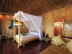 All made from Bamboo providing a SEA view and a private terrace with a hammock to relax and enjoy.