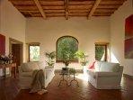 Castellare loggia living room