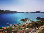 View from Kalekoy Castle, Kekova. Another great destination for a day trip.