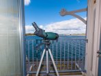 Telescope to see the passing ships close up