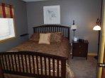 Master Queen Room with closet & Bureau and Porta Crib