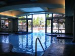 Second pool; year round indoor - outdoor pool and hot tub.