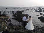 The coast just before the pension is so popular to newlywed couples, many are coming for photos.
