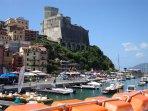 Lerici mit der Burg und dem Schifferhafen ! Unser Portofino !