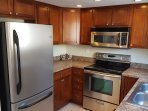 Kitchen with convection oven with everything you would need to feel at home