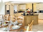 Superb Mark Wilkinson oak and hand painted fully equipped kitchen