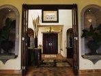 The elegant entrance to Casa Nacar