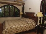This upstairs bedroom has a Queen bed