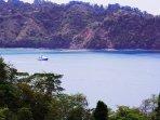 A panorama of beautiful Herradura Bay