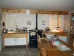 Kitchen - Aga and dining area