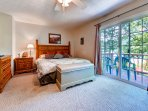Walk out to the balcony from the master bedroom!