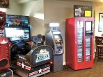 Game/room arcade located adjacent to building.